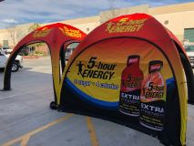 5 Hour Energy Pop up event tent