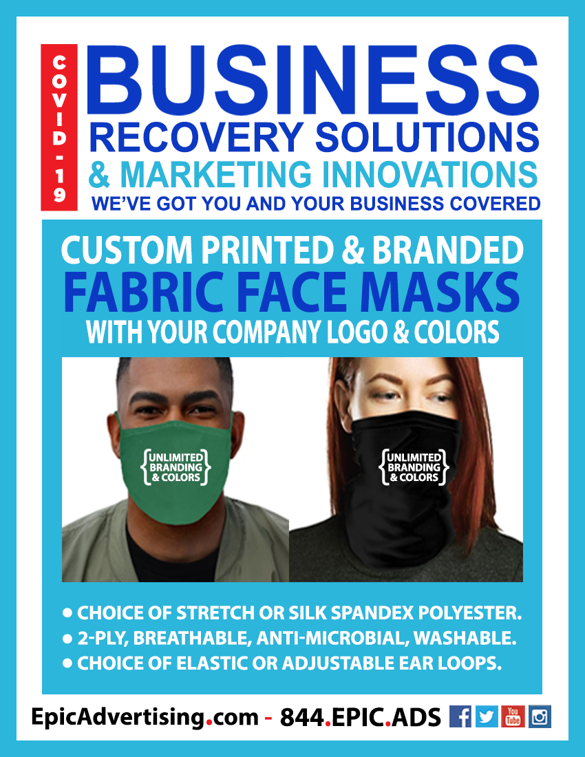 EPIC BRS 8.5x11 branded masks