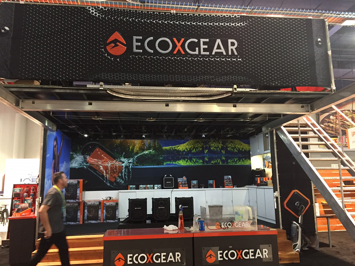 EcoXGear Trade Show Trailer outside view