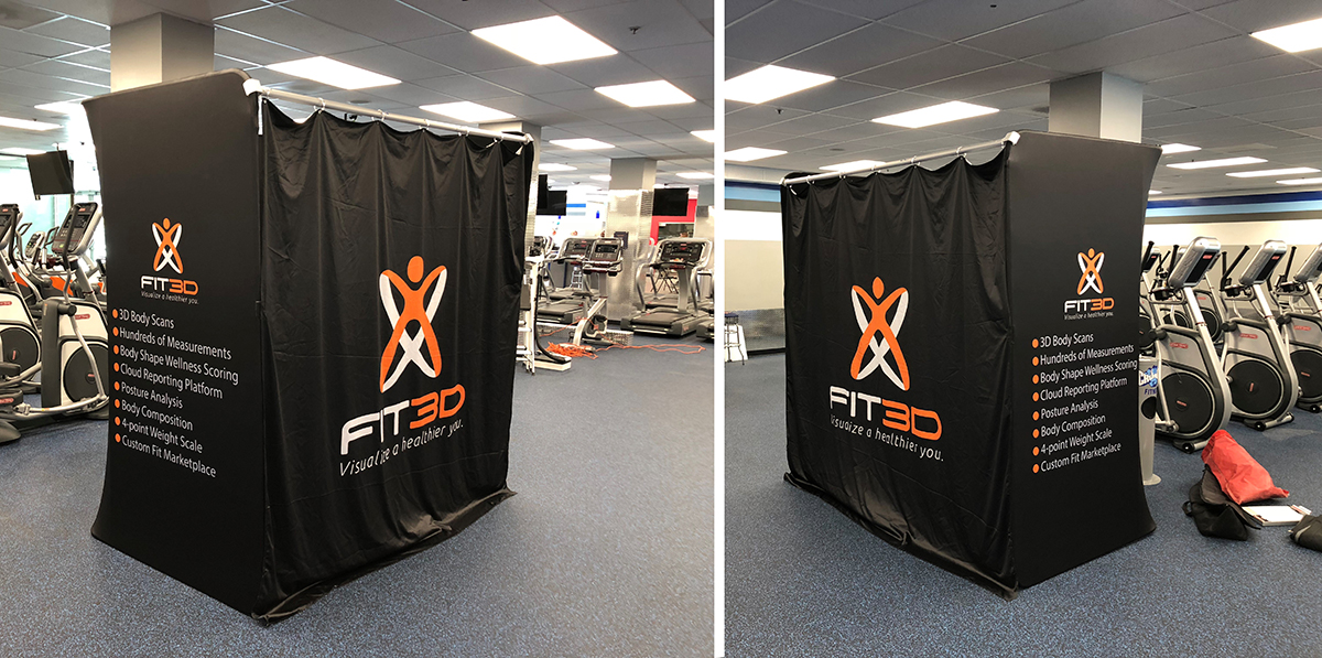 Fit 3d popup changing room