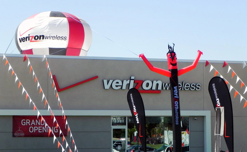 Verizon Wireless large custom marketing materials