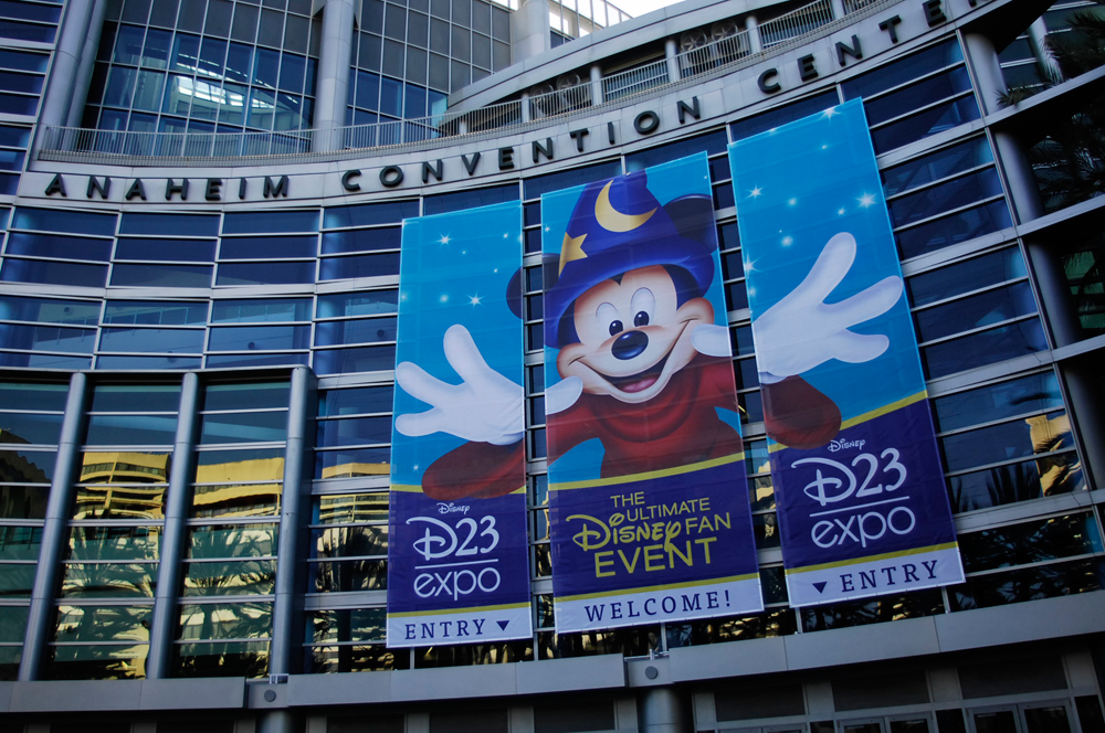 Anaheim Convention Center Disney Expo Banner